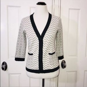 Margaret O'Leary Gray 3/4 Sleeve Cardigan Sweater